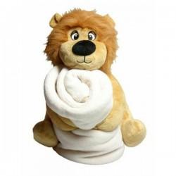 Peluche Lion avec couverture personnalisée