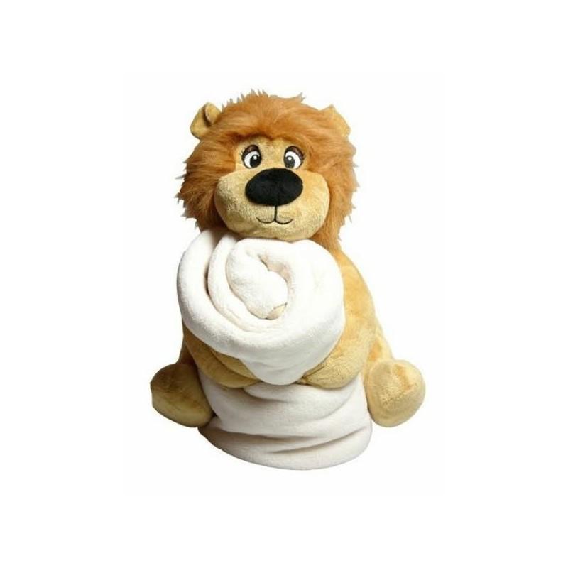 Kuscheltier Löwe mit Decke zum selbst gestalten mit eigenem Foto ...