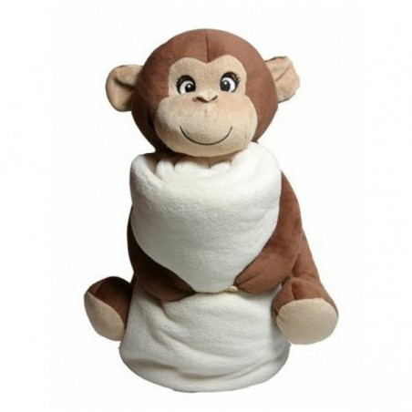 Kuscheltier Affe mit Decke selbst gestalten