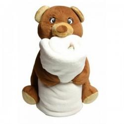 Kuscheltier Teddybär mit Decke selbst gestalten